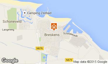 Karte Breskens Appartement 47117