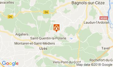 Karte Uzès Haus 113821