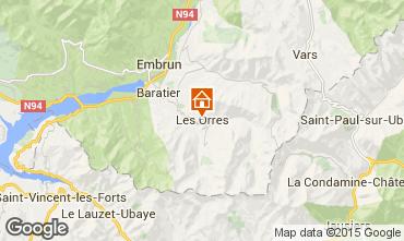 Karte Les Orres Appartement 26650