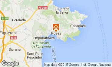 Karte Rosas Appartement 81137