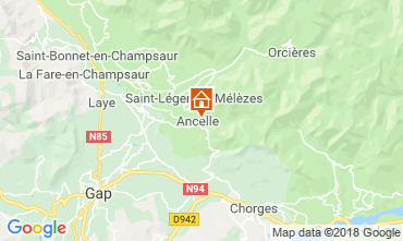 Karte Ancelle Chalet 116834