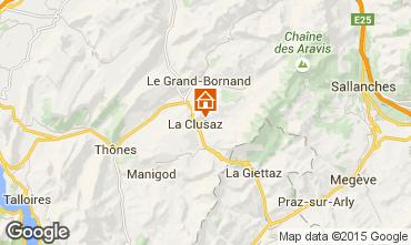 Karte La Clusaz Appartement 80429