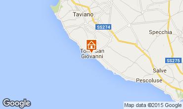 Karte Ugento - Torre San Giovanni Appartement 93760