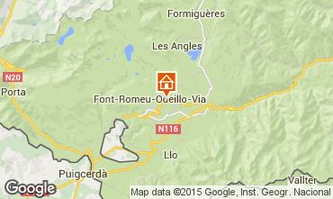 Karte Bolquère Pyrenées 2000 Appartement 3986
