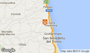Karte Cupra Marittima Appartement 54986