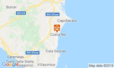 Karte Costa Rei Appartement 82236