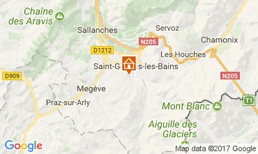 Karte Saint Gervais Mont-Blanc Studio 69949