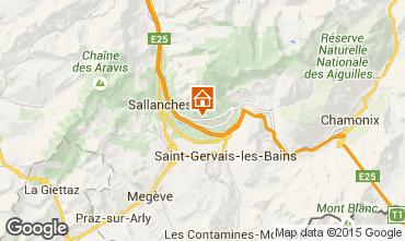Karte Chamonix Mont-Blanc Chalet 651