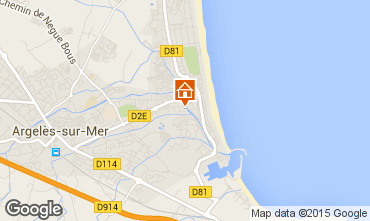 Karte Argeles sur Mer Appartement 54598