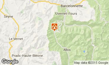 Karte Val d'Allos Studio 3194
