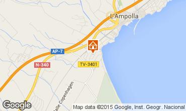 Karte L'Ampolla Villa 59145