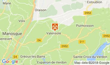 Karte Valensole Villa 65599
