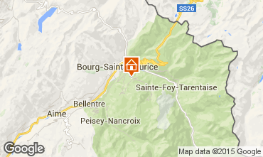 Karte Les Arcs Chalet 322