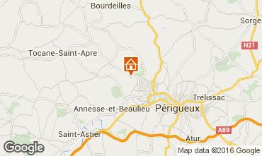 Karte Périgueux Ferienunterkunft auf dem Land 54756