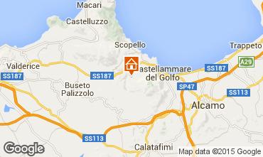 Karte Castellammare del Golfo Villa 77449