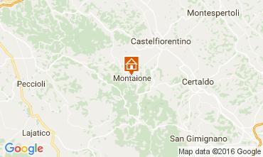 Karte Gambassi Terme Villa 107501
