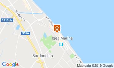 Karte Bellaria Igea Marina Appartement 84906