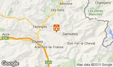 Karte Morillon Grand Massif Chalet 83014