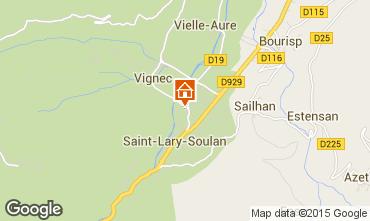 Karte Saint Lary Soulan Studio 80914