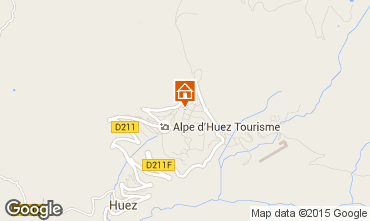 Karte Alpe d'Huez Studio 93526