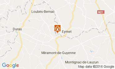 Karte Bergerac Ferienunterkunft auf dem Land 36896