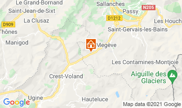 Karte Megève Studio 92363
