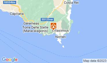 Karte Villasimius Villa 116186