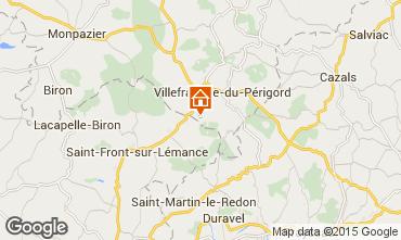 Karte Villefranche du Périgord Ferienunterkunft auf dem Land 51192