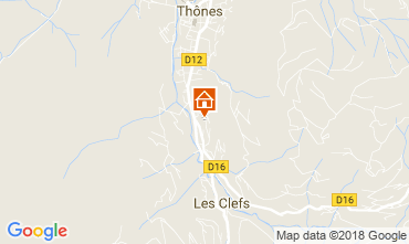 Karte La Clusaz Ferienunterkunft auf dem Land 112920
