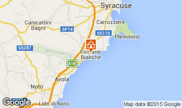 Karte Fontane Bianche Villa 77117
