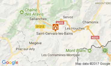 Karte Saint Gervais Mont-Blanc Appartement 112570
