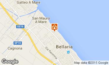 Karte Bellaria Igea Marina Appartement 81740