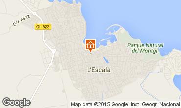 Karte L'Escala Haus 55043