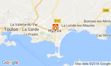 Karte Hyères Studio 109105