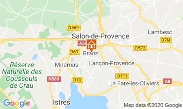 Karte Salon de Provence Ferienunterkunft auf dem Land 12967