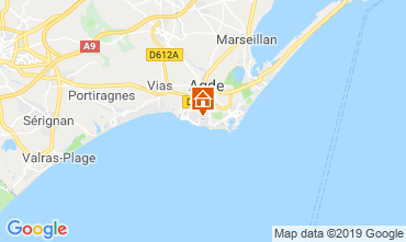 Karte Agde Mobil-Home 117878