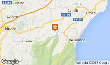 Karte Cala Gonone Appartement 80249