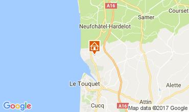 Karte Le Touquet Mobil-Home 108559