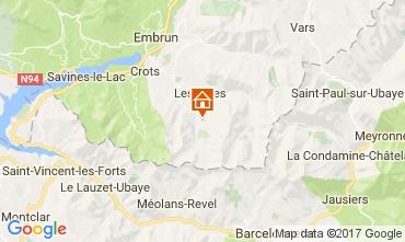 Karte Les Orres Studio 66912