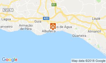 Karte Praia da Oura Appartement 116116