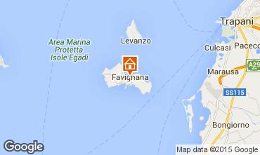 Karte Favignana Appartement 68233