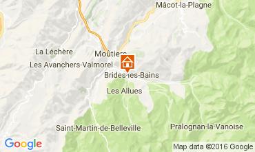 Karte Brides Les Bains Studio 106467