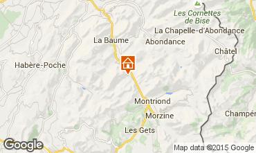 Karte Saint Jean d'Aulps- La Grande Terche Appartement 42356