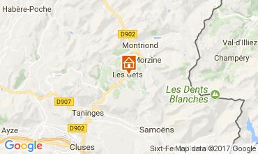 Karte Les Gets Appartement 112825