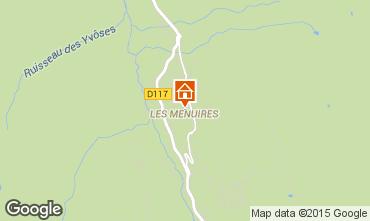 Karte Les Menuires Studio 1724