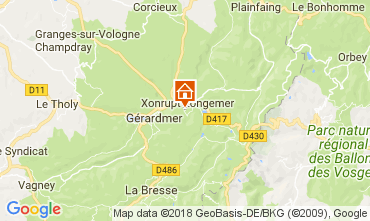 Karte Xonrupt Longemer Appartement 113116