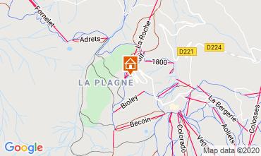 Karte La Plagne Studio 2252