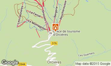 Karte Orcières Merlette Studio 28115