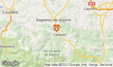 Karte Bagnères de Bigorre Ferienunterkunft auf dem Land 70295
