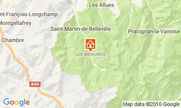 Karte Les Menuires Chalet 60440